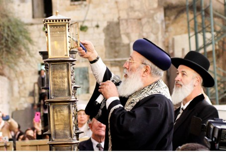 Candle Lighting at the Western Wall