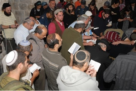 Prayers at Joseph's Tomb Monday night