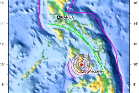 Map of earthquake impact