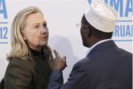 Hillary Clinton and Sharif Ahmed