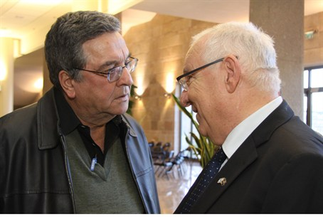 Achimeir (left) with MK Rivlin
