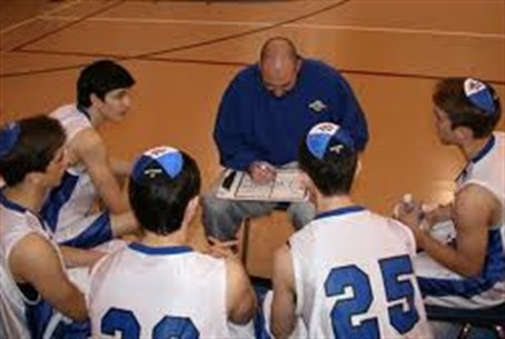 Beren basketball team and coach