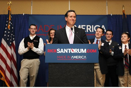 Rick Santorum campaigns in Alabama and Missis