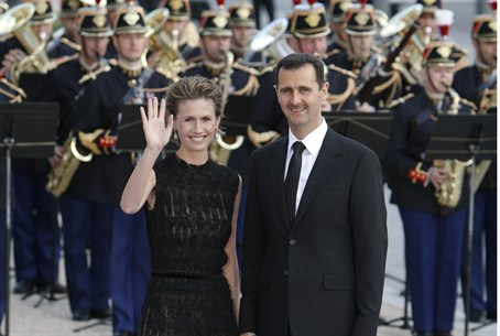 Asmaa and Bashar al-Assad