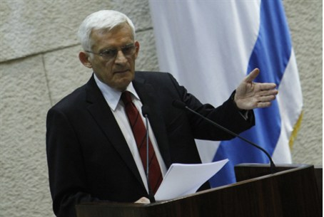 Jerzy Buzek in the Knesset
