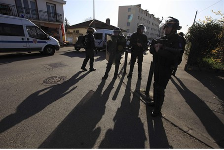 French Police Guard Merah Family Home