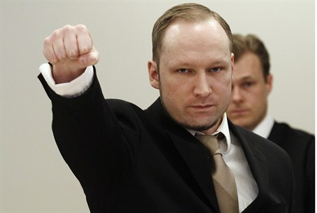 Breivik's Nationalist Salute