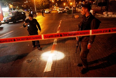 Stabbing scene at at Shimon HaTzaddik (file)