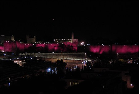Jerusalem goes pink for breast cancer