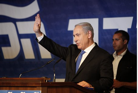 Netanyahu at Likud meeting