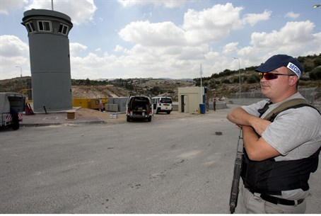 Guard on Binyamin-region road (illiustrative)