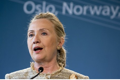 Hillary Clinton in Oslo