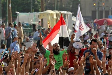 Protest after Mubarak sentence.
