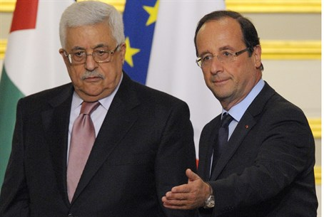 Abbas and Hollande in Paris