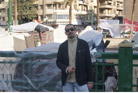 Ahmed Meligy in Tahrir Square 2011