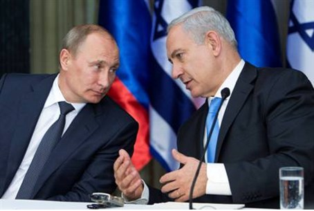 Putin and Netanyahu on Monday