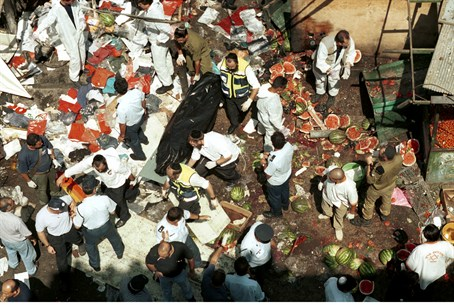 Aftermath of suicide bombing (file)