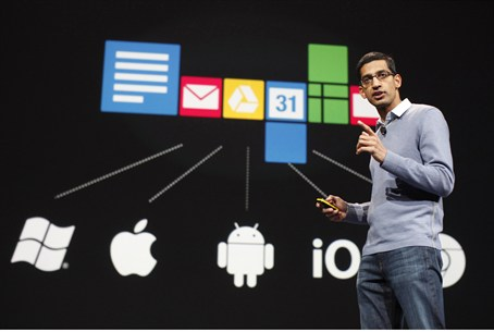 Sundar Pichai, senior vice president of Googl