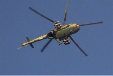 Syrian military helicopter