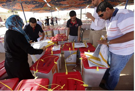 Ballot boxes in Benghazi