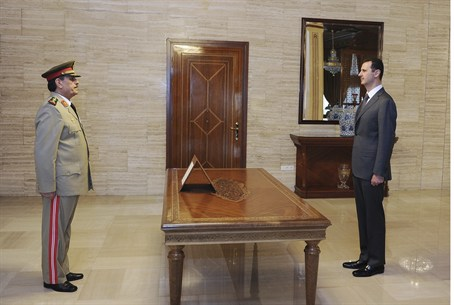 Assad Swears in Defense Minister 19.07.12