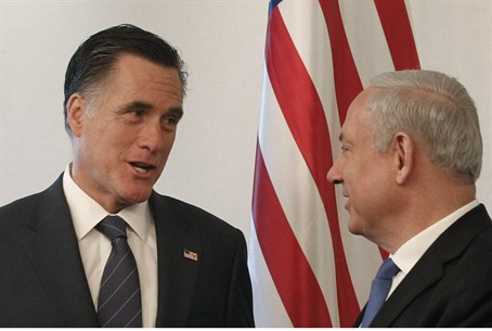 Mitt Romney with Netanyahu