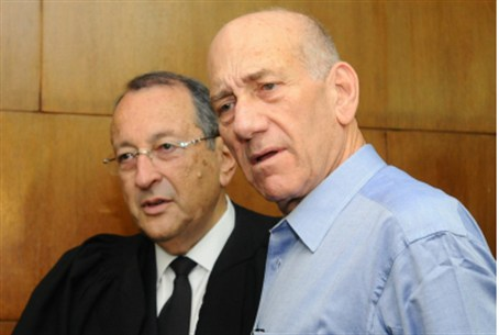 Ehud Olmert (right)