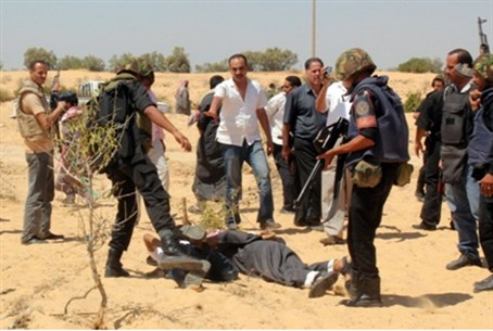 Egyptian forces arrest suspected terrorists a