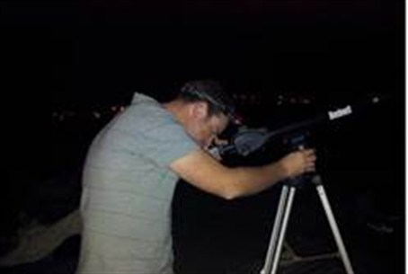 Telescope aimed at meteor shower in Negev