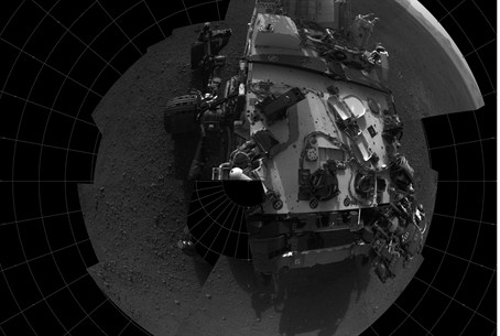 This self-portrait courtesy of NASA shows the