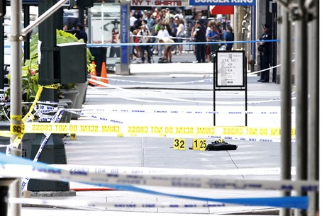 Site of shooting outside the Empire State Bui