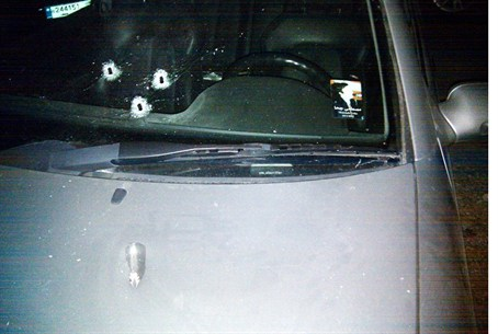 Bullet Ridden Car of Mostafa Geha