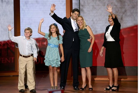GOP VP candidate Paul Ryan and family
