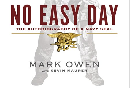"The cover of ""No Easy Day"", an account of the"
