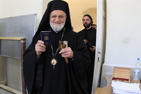 Patriarch Gregory III Laham, pictured in Febr