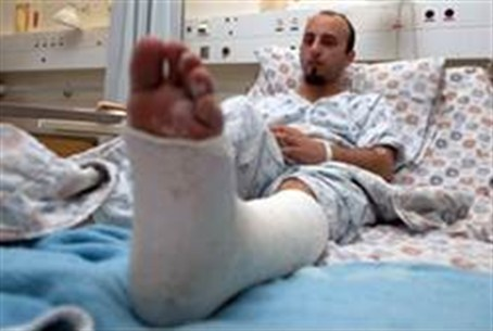The Arab worker in hospital