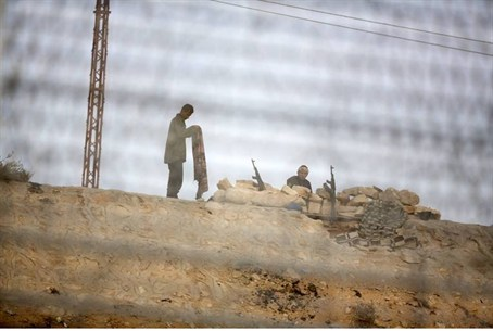 Egyptian soldiers in the Sinai Peninsula