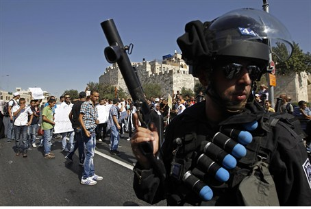 Israel Police guard Jerusalem's Old City from