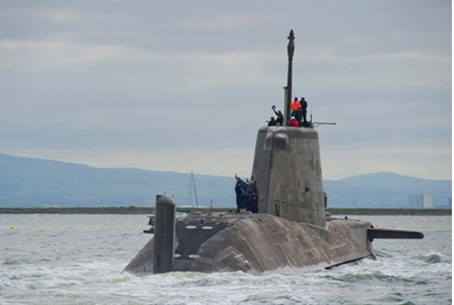 BAE submarine sets sail in Britain for sea t