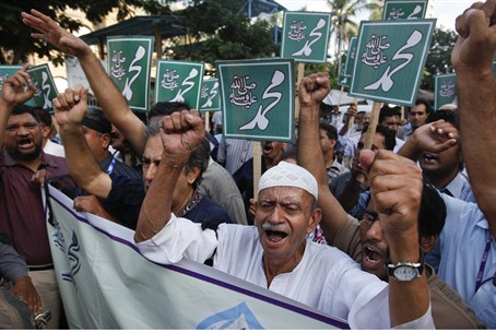 Protests in Pakistan against anti-Islam film