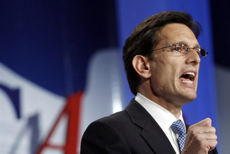 Republican House Majority Leader Eric Cantor