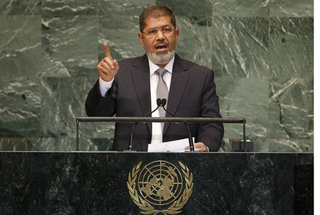 Mohamed Morsi at UN General Assembly Sept 26