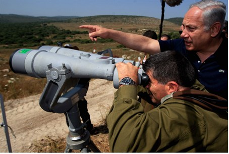 PM Netanyahu in the Golan