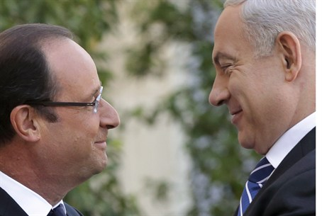 French Pres. Francois Hollande, Israeli PM Bi
