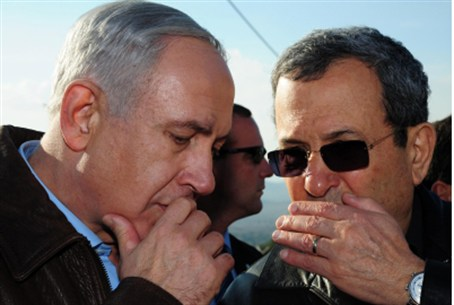 Barak and Netanyahu in the Golan