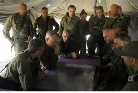 IDF Chief of Staff Benny Gantz in the field
