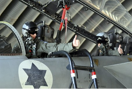 IAF pilot prepares for take off