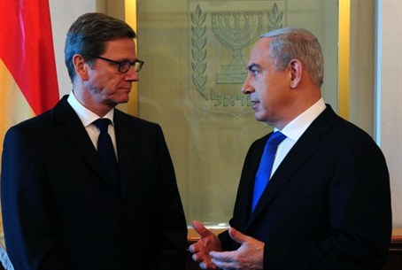Netanyahu with Westerwelle