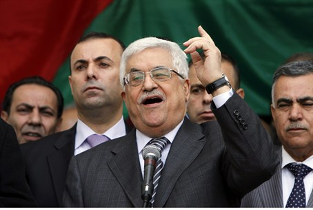 PA Chairman Mahmoud Abbas in Ramallah