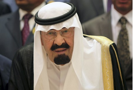 Saudi King Abdullah in August 2012